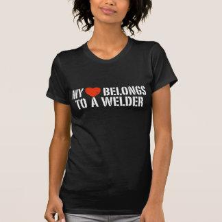 My Heart Belongs To A Welder Shirt