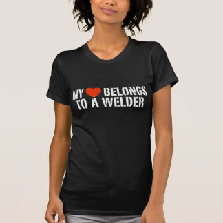 My Heart Belongs To A Welder Tshirt