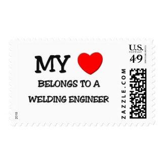 My Heart Belongs To A WELDING ENGINEER Stamps