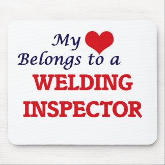 My heart belongs to a Welding Inspector Mouse Pad