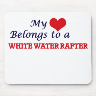 My heart belongs to a White Water Rafter Mouse Pad