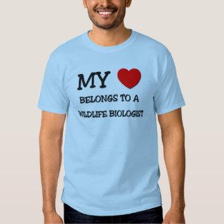 My Heart Belongs To A WILDLIFE BIOLOGIST T Shirt