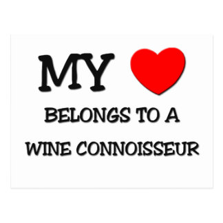 My Heart Belongs To A WINE CONNOISSEUR Postcards