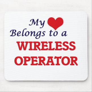 My heart belongs to a Wireless Operator Mouse Pad