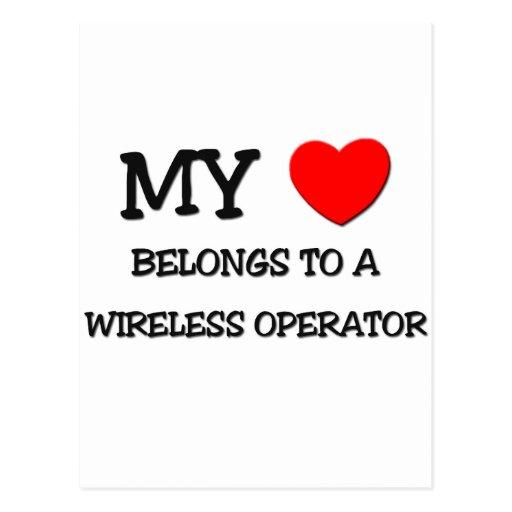 My Heart Belongs To A WIRELESS OPERATOR Postcard