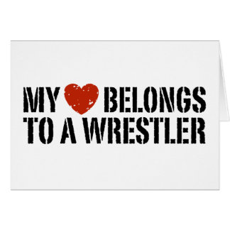 My Heart Belongs To A Wrestler Card
