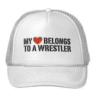 My Heart Belongs To A Wrestler Trucker Hats