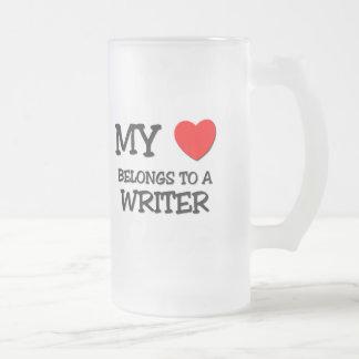 My Heart Belongs To A WRITER Coffee Mugs