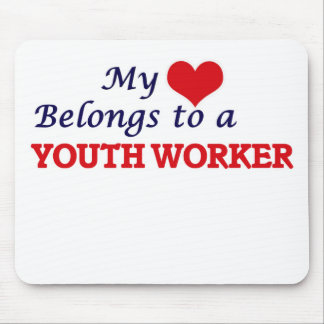 My heart belongs to a Youth Worker Mouse Pad