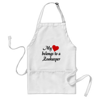My heart belongs to a Zookeeper Adult Apron
