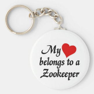 My heart belongs to a Zookeeper Keychain