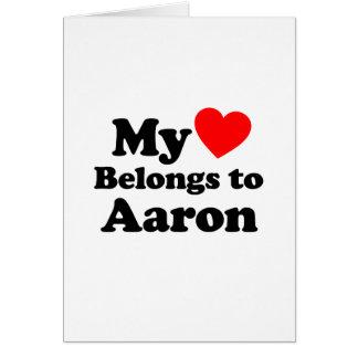 My Heart Belongs to Aaron Greeting Card
