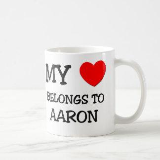 My Heart Belongs to Aaron Coffee Mug