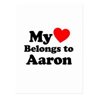 My Heart Belongs to Aaron Postcard