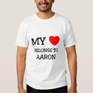 My Heart Belongs to Aaron T Shirt