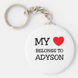 My Heart Belongs To ADYSON Keychains