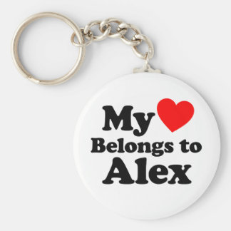 My Heart Belongs to Alex Keychain