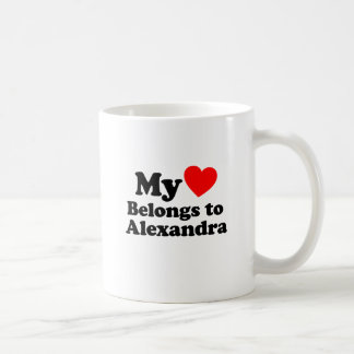 My Heart Belongs to Alexandra Coffee Mug