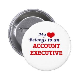 My Heart Belongs to an Account Executive Pinback Button