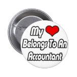 My Heart Belongs To An Accountant Buttons