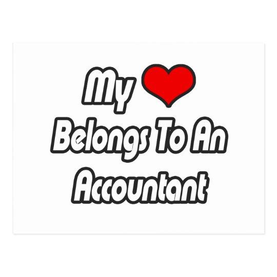 My Heart Belongs To An Accountant Postcard