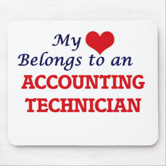 My Heart Belongs to an Accounting Technician Mouse Pad