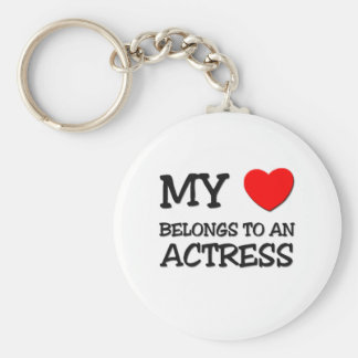 My Heart Belongs To An ACTRESS Basic Round Button Keychain