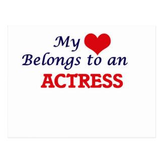 My Heart Belongs to an Actress Postcard