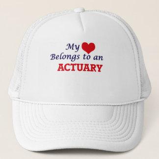 My Heart Belongs to an Actuary Trucker Hat
