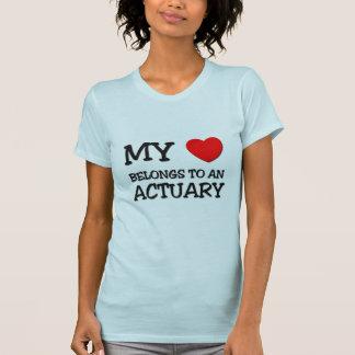 My Heart Belongs To An ACTUARY T-shirt