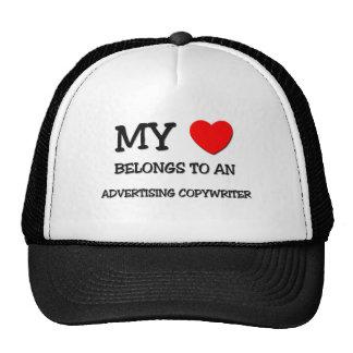 My Heart Belongs To An ADVERTISING COPYWRITER Trucker Hat