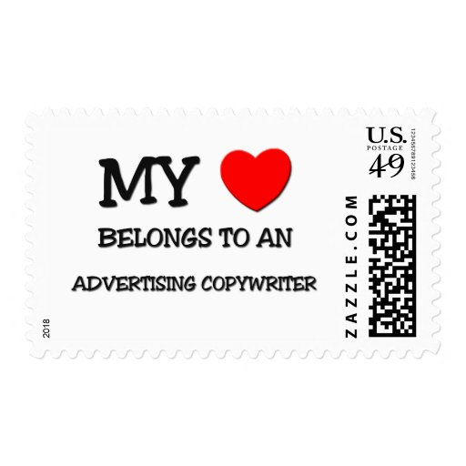 My Heart Belongs To An ADVERTISING COPYWRITER Postage Stamps