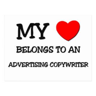 My Heart Belongs To An ADVERTISING COPYWRITER Post Card