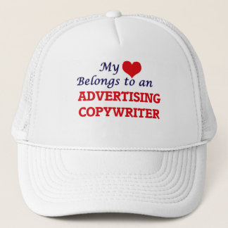 My Heart Belongs to an Advertising Copywriter Trucker Hat
