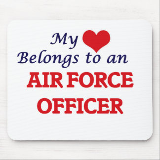 My Heart Belongs to an Air Force Officer Mouse Pad