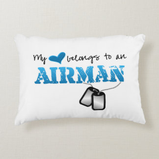 My Heart Belongs to an Airman Accent Pillow