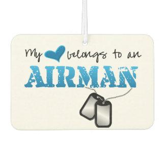 My Heart Belongs to an Airman Air Freshener