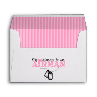 My Heart Belongs to an Airman Envelope