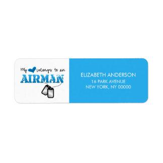 My Heart Belongs to an Airman Label