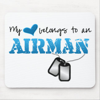 My Heart Belongs to an Airman Mouse Pad