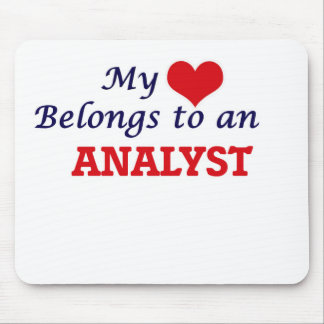 My Heart Belongs to an Analyst Mouse Pad