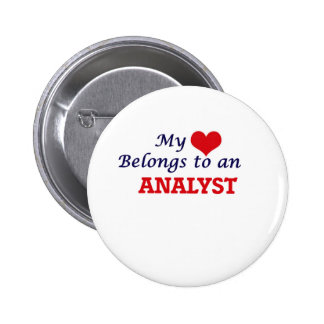 My Heart Belongs to an Analyst Pinback Button