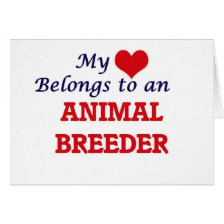 My Heart Belongs to an Animal Breeder Card