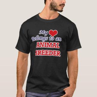 My Heart Belongs to an Animal Breeder T-Shirt