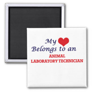 My Heart Belongs to an Animal Laboratory Technicia Magnet