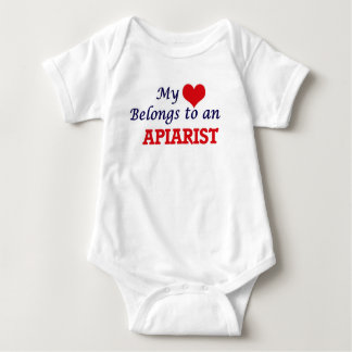 My Heart Belongs to an Apiarist Baby Bodysuit