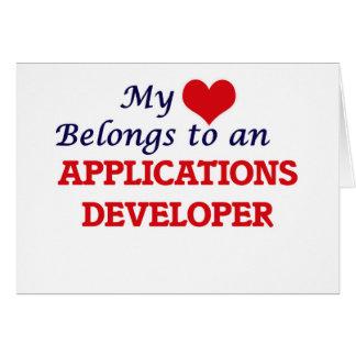My Heart Belongs to an Applications Developer Card
