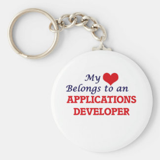 My Heart Belongs to an Applications Developer Keychain