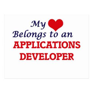My Heart Belongs to an Applications Developer Postcard
