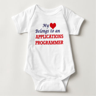 My Heart Belongs to an Applications Programmer Baby Bodysuit